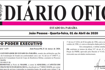 João Azevêdo promove oficiais do Corpo de Bombeiros da Paraíba