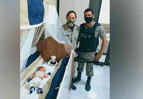 Polícia Militar salva recém-nascido que se engasgou com água, no interior da Paraíba