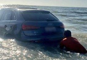 Grupo fura quarentena para ir a praia e perde carros de luxo em maré alta, no Pará; veja