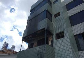 Idoso sofre queimaduras após ter apartamento atingido por incêndio em João Pessoa