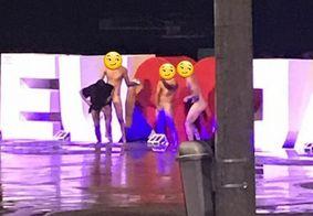 Pelados em Jampa: grupo é flagrado tirando fotos sem roupa em ponto turístico de JP