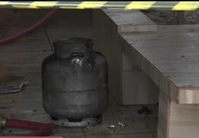 Restaurante pega fogo após troca de gás de cozinha