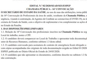 Profissionais de saúde classificados para atuar no combate a Covid-19 na PB são convocados