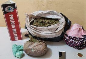 Polícia prende mulher com cocaína e 6 kg de maconha em ônibus, na PB