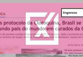 Protocolo de uso da cloroquina não aumentou o número de pacientes recuperados de Covid-19