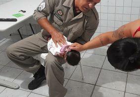 Sargento reanimou a bebê