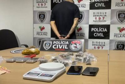 Jovem suspeito de tráfico é preso em João Pessoa