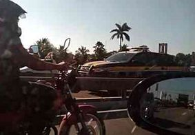 Engavetamento entre seis veículos deixa trânsito lento na BR-230 em João Pessoa