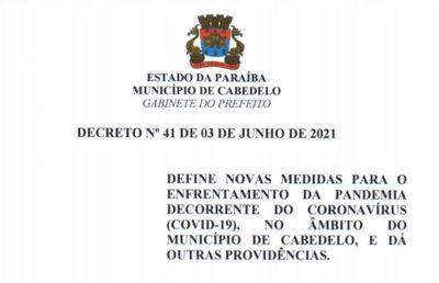 Decreto limita acesso a praias e funcionamento de bares em Cabedelo