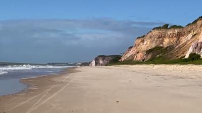 Praia do Sol, no Litoral Sul de João Pessoa, onde corpo foi encontrado.