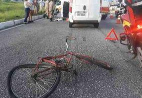 Ciclista é atropelado e arrastado por 30 metros na BR-230, em João Pessoa