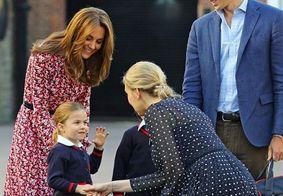 Princesa Charlotte é acompanhada pela família em seu primeiro dia de aula; veja fotos