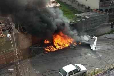 Queda de avião deixa uma pessoa morta em Belo Horizonte