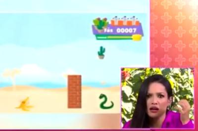 Reação de Juliette ao descobrir que virou tema de jogo de vídeo-game
