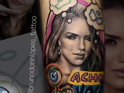 """Fã de Rafa Kalimann faz tatuagem da ex-BBB com fala icônica: """"Acho você sim, incoerente"""""""