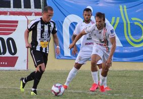 A partida terminou em 0 a 0 no Marizão