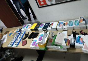 Materiais levados de uma loja em Jaguaribe foram encontrados com os suspeitos