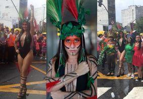 Alessandra Negrini gera polêmica ao aparecer fantasiada de índia em bloco de carnaval; veja