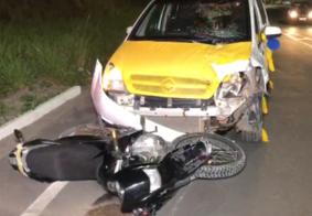 Motociclista sofre traumatismo craniano ao tentar fazer ultrapassagem a ônibus
