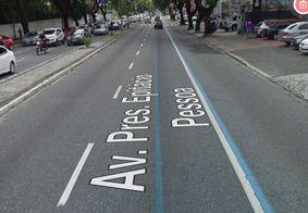 Faixa exclusiva na avenida Epitácio Pessoa