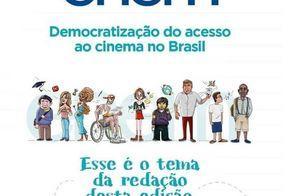 Tema da redação do Enem 2019 é 'Democratização do acesso ao cinema no Brasil'