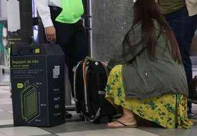 Aeroportos do país começam a despachar bagagem de mão que estiverem fora do padrão