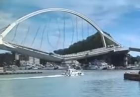 Vídeo: ponte desaba e deixa seis pessoas desaparecidas e 12 feridas, em Taiwan