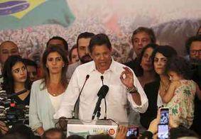 'Não tenham medo', diz Haddad em discurso após derrota nas urnas