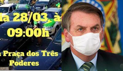 Em meio à pandemia de covid-19, apoiadores de Bolsonaro organizam ato em João Pessoa