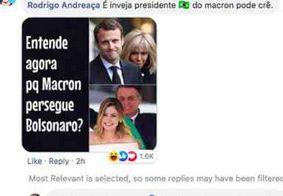 Bolsonaro apaga comentário sobre Brigitte Macron, após negar ofensa