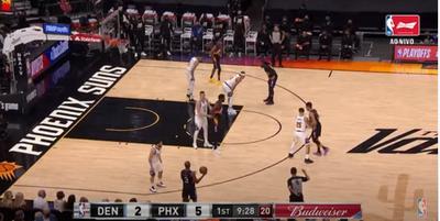 Jogando em casa, oPhoenix Suns venceu oDenver Nuggetspor 123 a 98