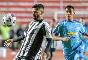 Ceará e Bolívar empataram sem gols