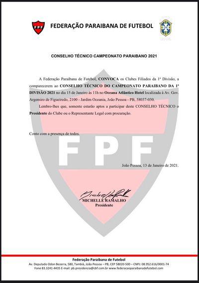 Conselho Técnico do Campeonato Paraibano