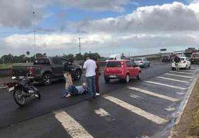 Motociclista fica ferido em acidente na BR-230, em João Pessoa