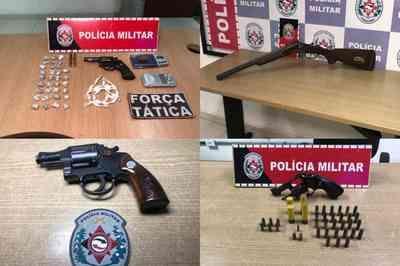 PM apreende pelo menos quatro armas em ações na capital paraibana; veja
