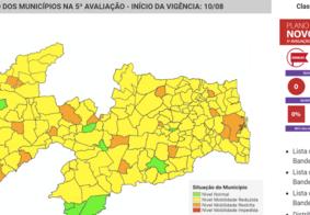 Covid-19: diminui número de cidades com bandeira verde na PB