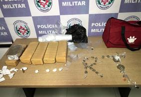 Polícia apreende 5 kg de maconha e 4 pacotes de cocaína na Zona Norte de João Pessoa