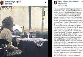 Com R$ 50, catador vai a restaurante de luxo, é servido e viraliza