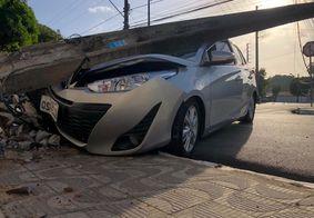 Ex-vereador de João Pessoa bate em poste ao perder controle de veículo