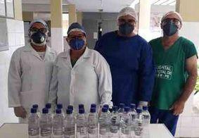 Laboratório da UFPB produz álcool glicerinado para profissionais da saúde do Brejo