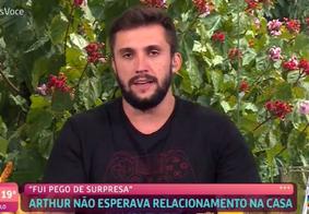 Arthur durante participação no Mais Você, da TV Globo