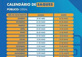 Calendário de saques e pagamentos