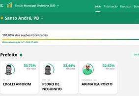 Candidatos têm empate percentual e prefeito é eleito por sete votos de diferença, na PB