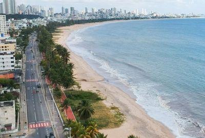 Praia de Cabo Branco, em João Pessoa.