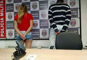 Casal é preso com revólver de empresa de segurança que seria usado em homicídio, em João Pessoa