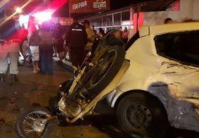 Colisão entre carro e moto deixa um ferido na Zona Sul de João Pessoa