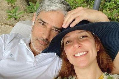 """William Bonner ganha declaração romântica da esposa: """"Amo muito mesmo"""""""