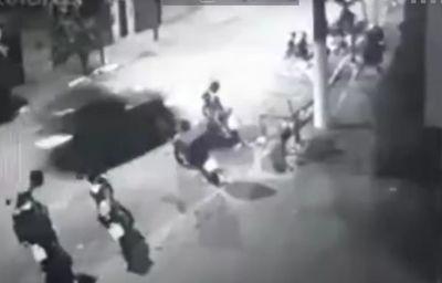 Vídeo mostra momento em que carro arrasta fileira de motos e mata motoboy