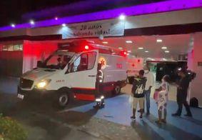 Homem foi encaminhado ao Hospital de Emergência e Trauma