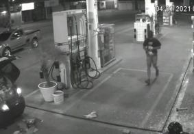 Vídeo mostra ação de bandidos em posto de combustíveis na Zona Sul de João Pessoa